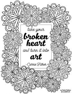 Carrie Fisher Quote Mandala Coloring Page Mandala Coloring Pages