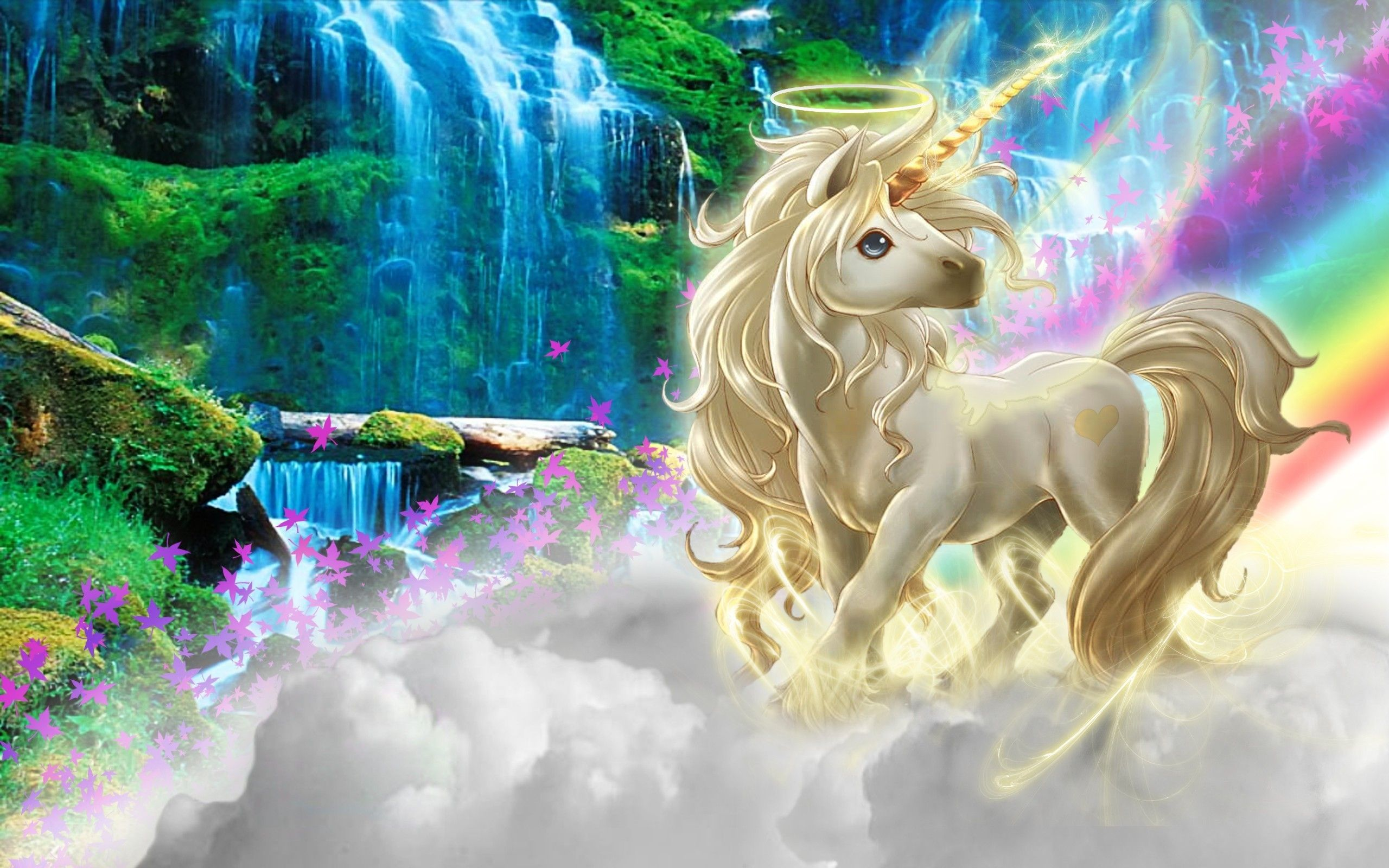Unicorn Clouds Rainbow Nature Wallpapers Wallpaper Desktop
