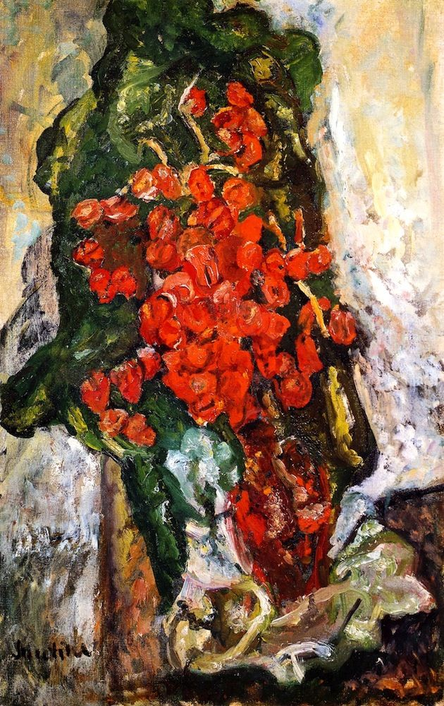 ❀ Blooming Brushwork ❀ - garden and still life flower paintings - Bouquet of Flowers Chaim Soutine - circa 1919