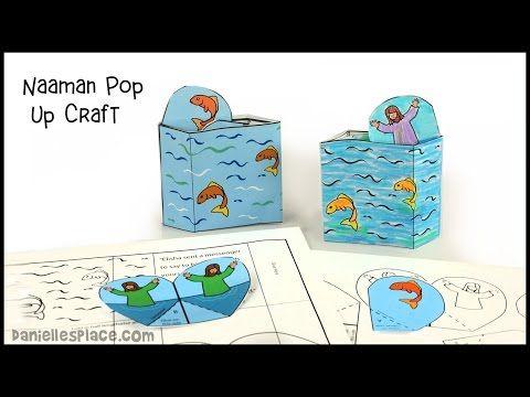 Naaman Pop Up Bible Craft For Children S Ministry Christian