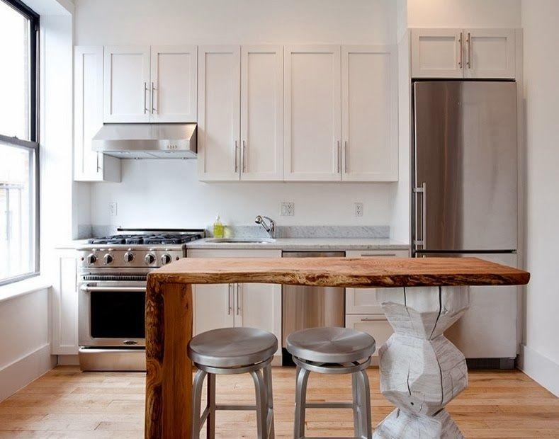 Reforma #cocina pequeña y abierta en piso reformado, un sólo ...