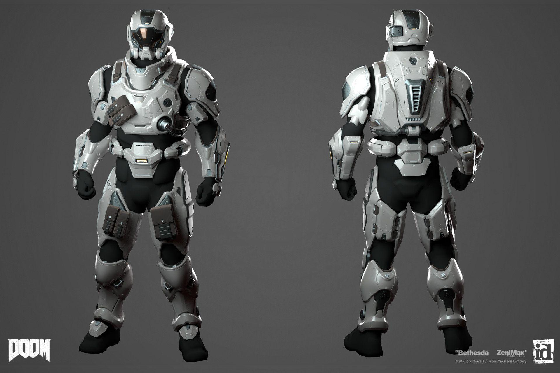 ArtStation - DOOM - Uac Armorset 03, Emanuel Palalic | Sci
