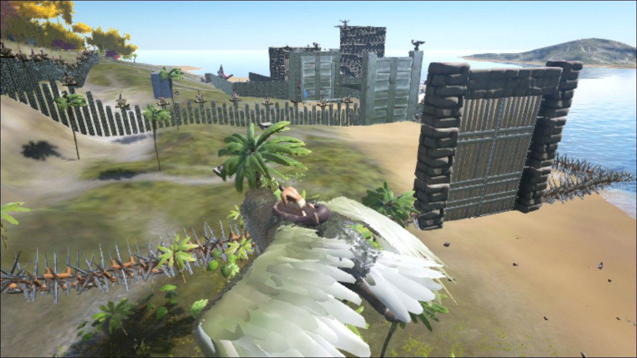 Great idea using pillars as a wall would take a while for even great idea using pillars as a wall would take a while for even the op to munch a gap big enough to fit through ark survival evolved base made near dead malvernweather Images