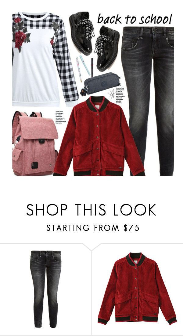 """""""Back To School"""" by beebeely-look ❤ liked on Polyvore featuring R13, Kipling, BackToSchool, sammydress, backpacks, schooloutfit and back2school"""