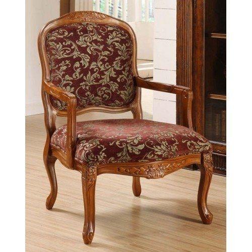Best Burgundy Floral Accent Chair Enjoy The Elegant 640 x 480