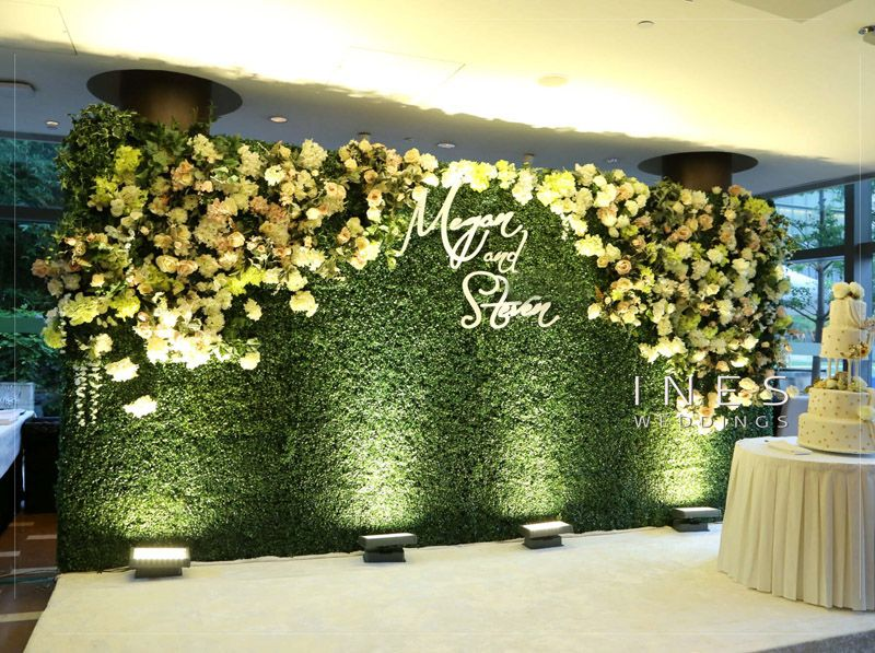 Greenery And Floral Wall Wedding Backdrop In 2019 Flower