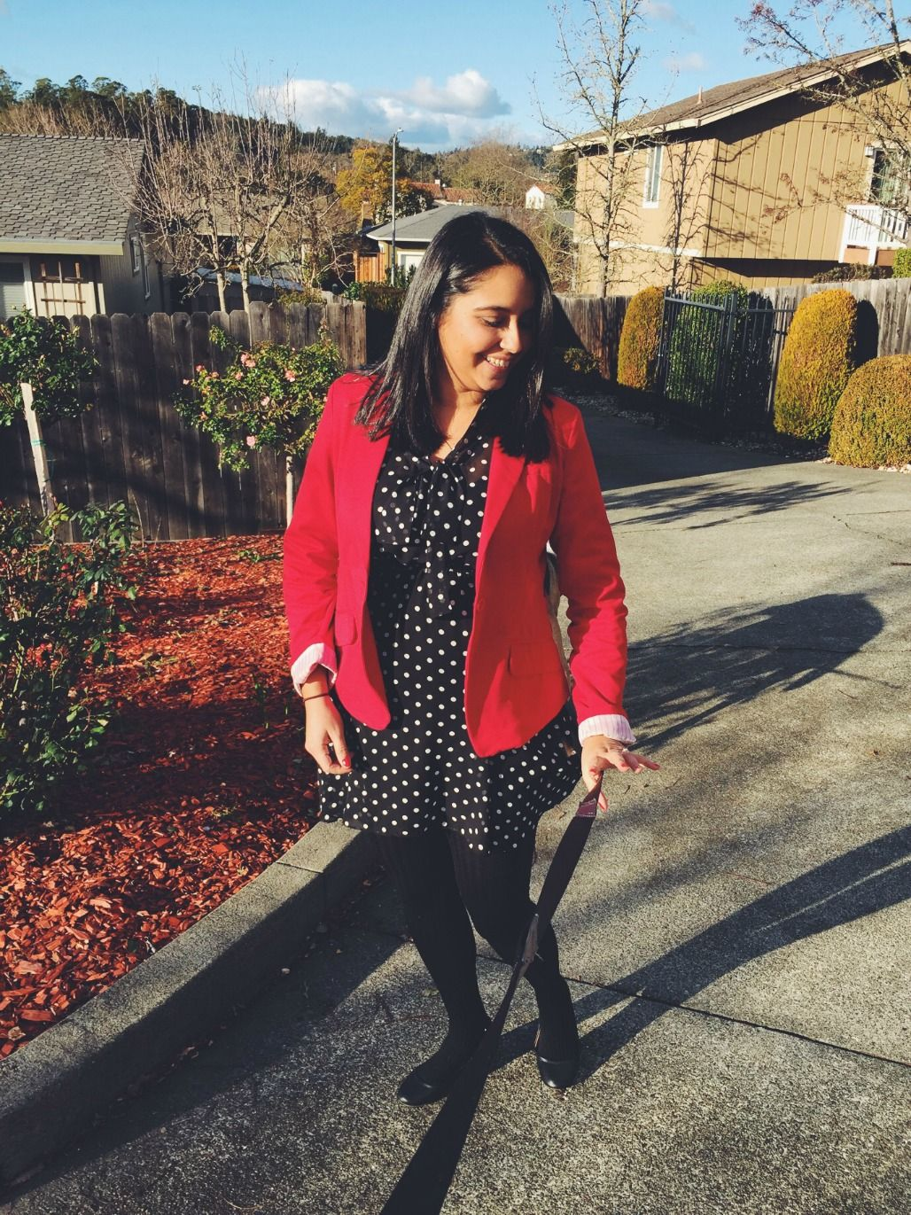 My Christmas OOTD. I decided to go with Black, White and Red. Polkadots for sure! It was comfy and elegant! ;) Check out the blog!