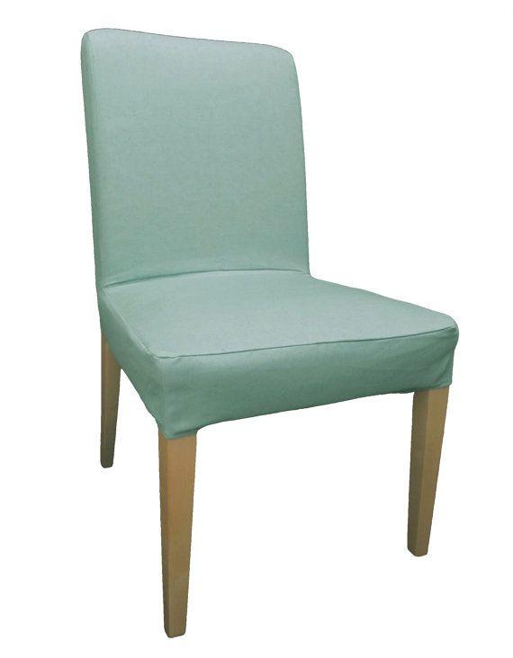 Slipcover For Older IKEA Henriksdal Dining Chair In Sky Linen