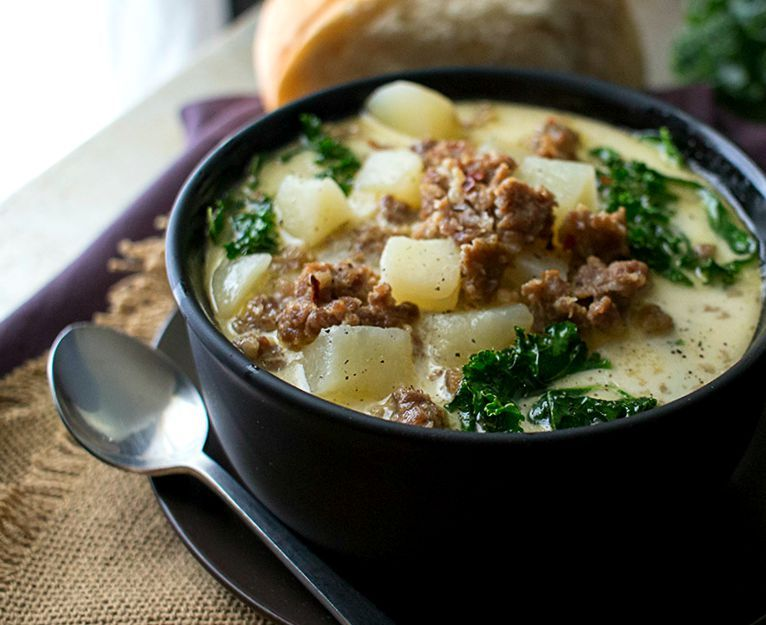 Slow Cooker Zuppa Toscana The Chunky Chef The Classic Zuppa Toscana Soup In Slow Cooker
