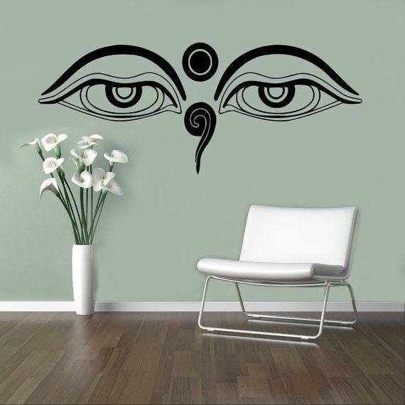 eyes of buddha wall decal vinyl sticker asia god home decor ideas