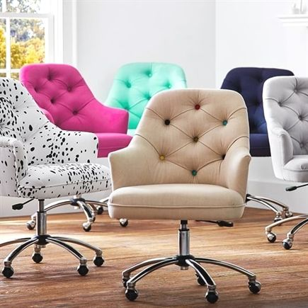 Tufted Desk Chair Standing Height Reception Twill Furniture Pinterest Officedesk