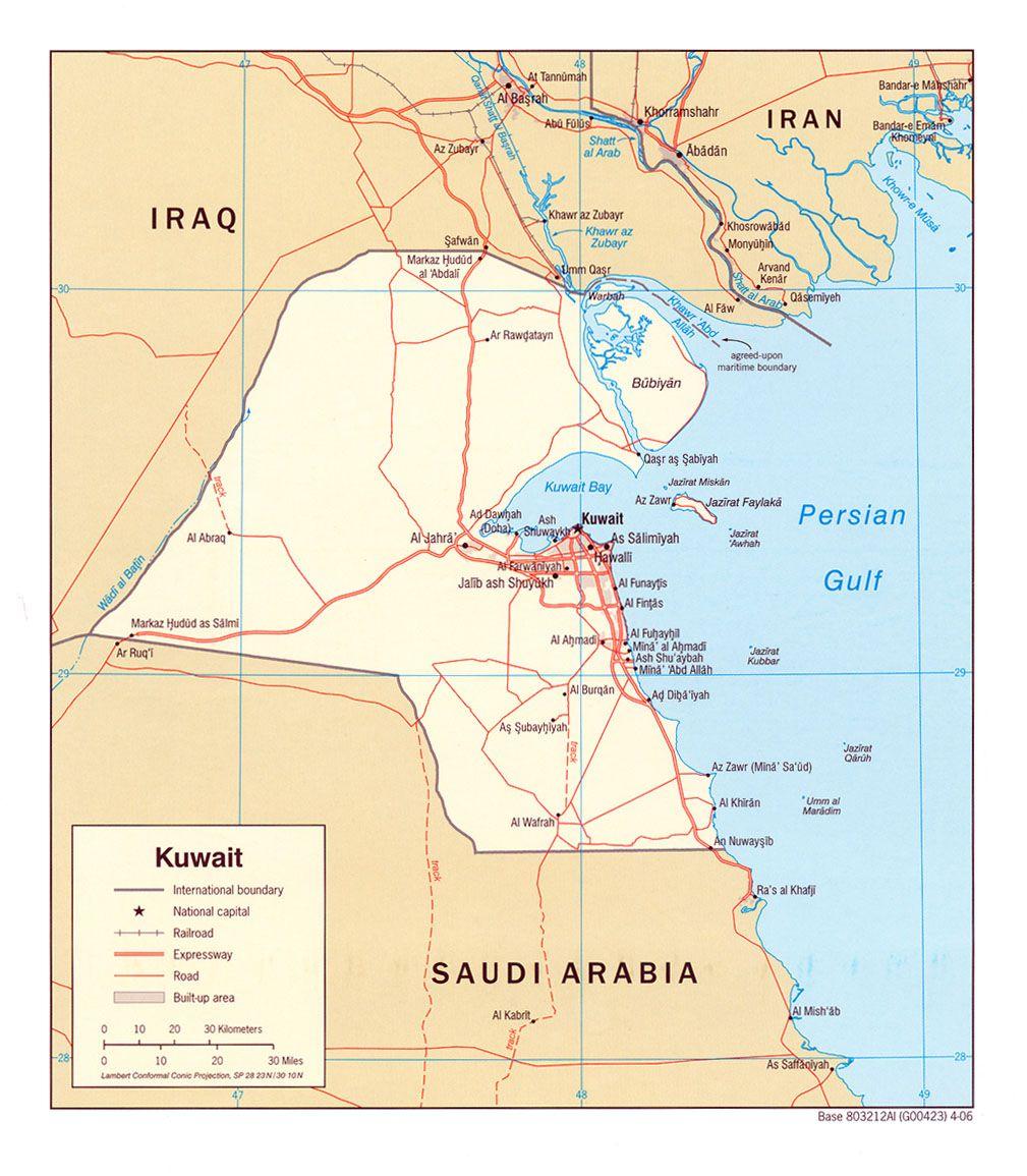 Map of Kuwait | anthropology | Map, Iraq war, Arabian peninsula