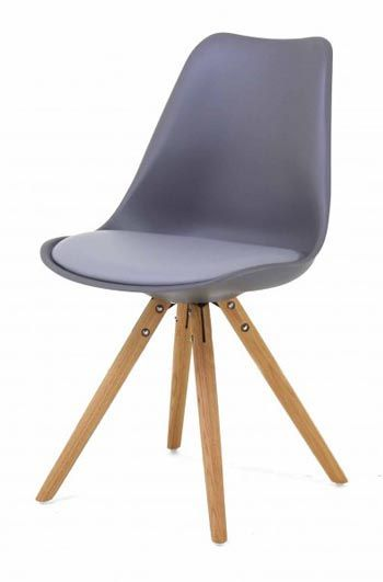 chaise scandinave grise pied en compas cross - Chaises Scandinaves Grises