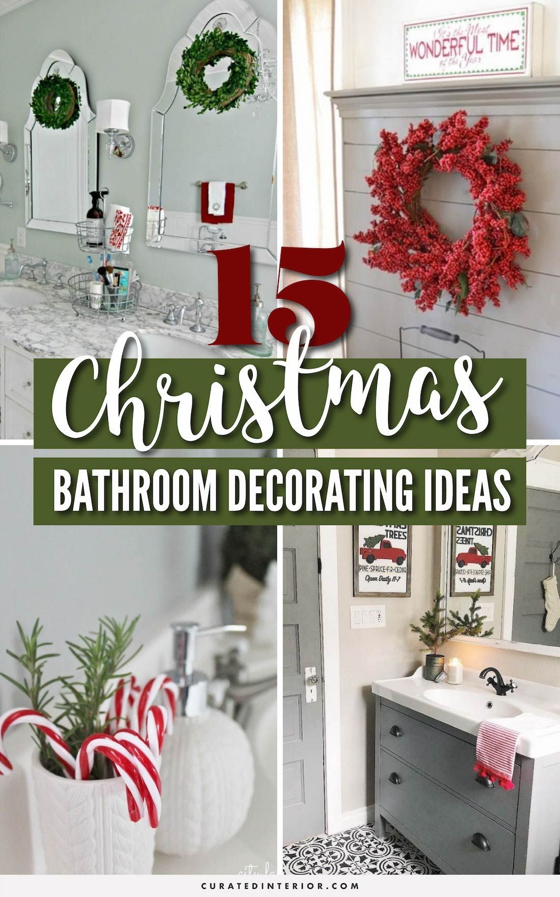 8 Brilliant Christmas Bathroom Decor Ideas! #BathroomDecor