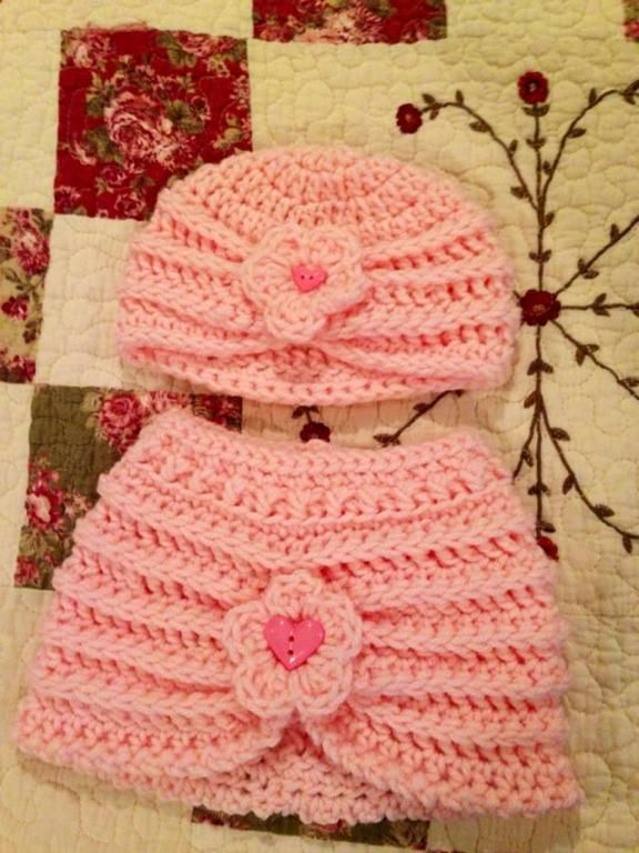 Ribbed Baby Turban And Skirt Crochet Stuff Pinterest Baby
