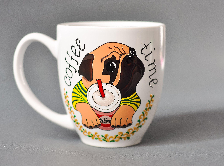 Hand painted mug personalized coffee mug dog coffee mug ...