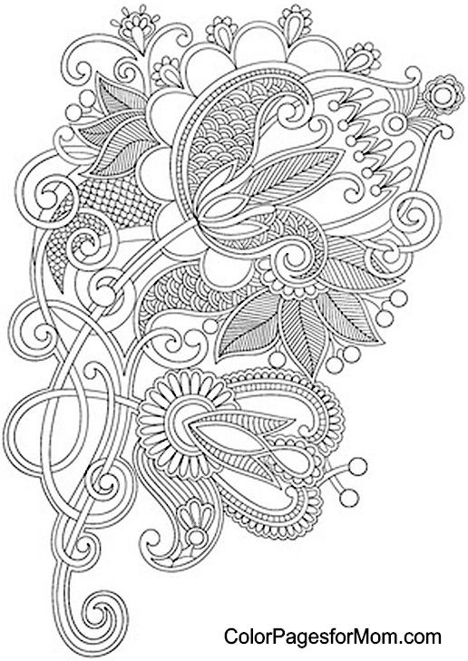 Paisley Coloring Page 19 | Colouring pages | Pinterest ...
