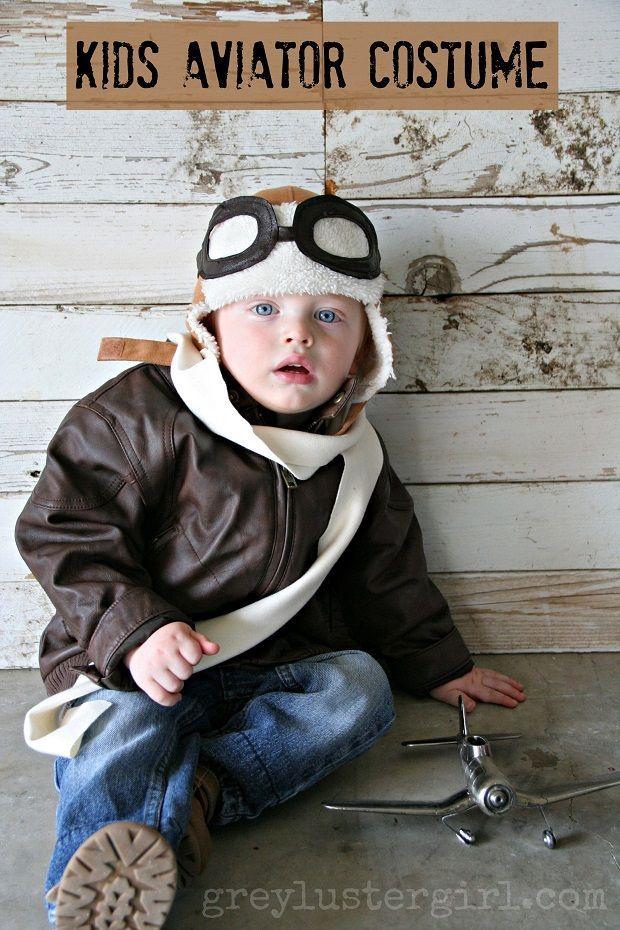 f9a9d34b3f9 Kids Aviator Costume Boy Halloween Costumes