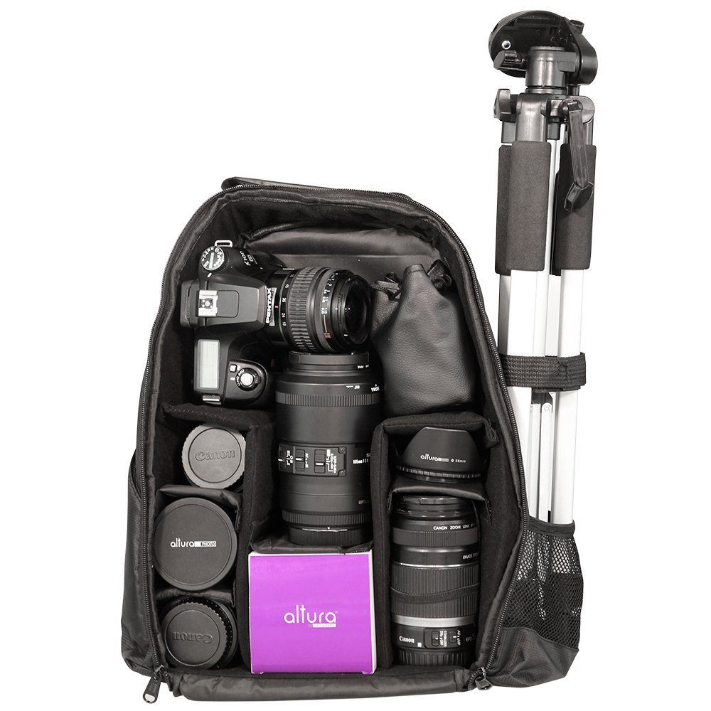 Backpack for dslr cameras and accessories canon nikon