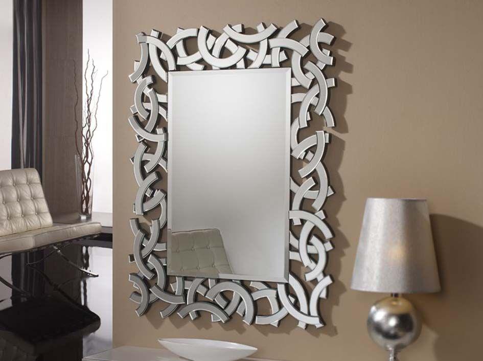 Espejos de cristal modelo eolo decoracion beltran tu - Espejos modernos salon ...