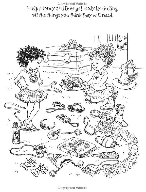 fancy nancy and bree getting dressed az coloring pages