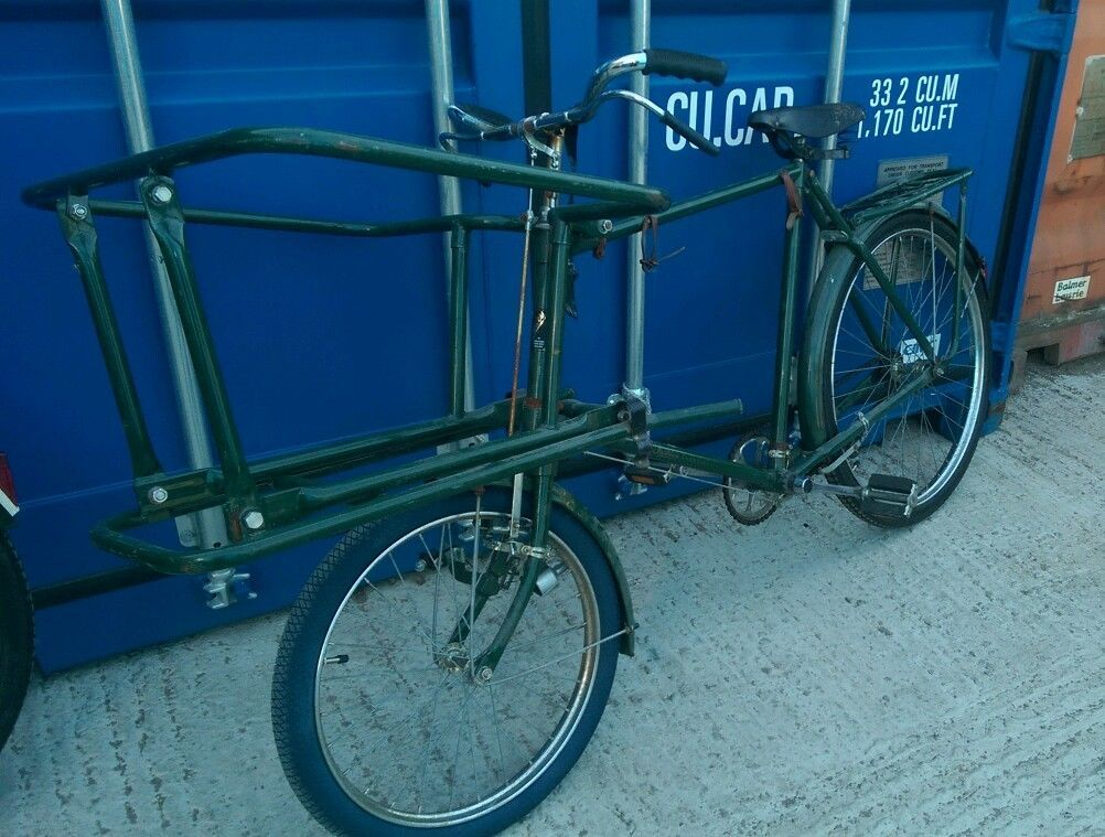 Antique Pashley Butchers Bike Green Full Working Order