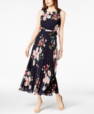 cc7ef0b42bf2 Jessica Howard Petite Belted Floral Maxi Dress - Navy Multi 14P ...