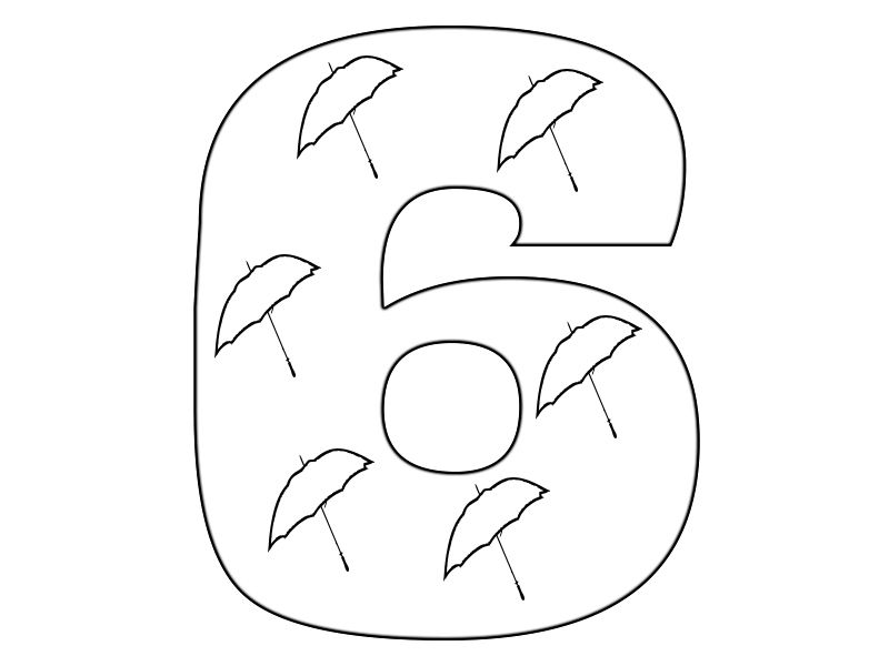 Number 6 Colouring Page Coloring Pages Free Coloring Pages Color