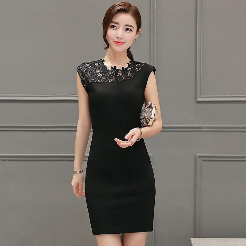 Brand Summer Dress Women Casual Slim Sleeveless Plus Size Crochet