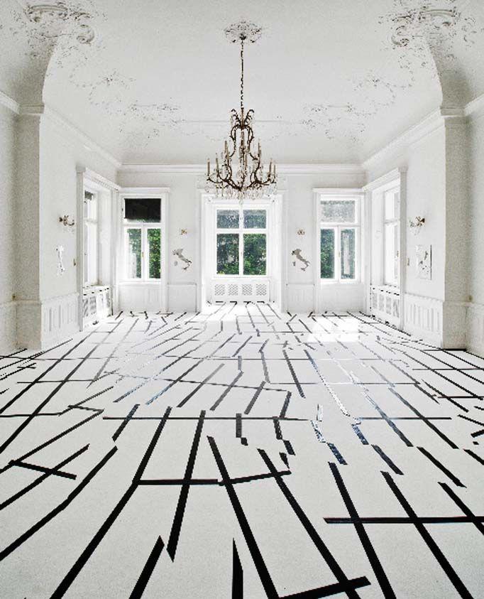 Esther Stocker Installation Italienisches Kulturinstitut Wien, 2011  전시 ...