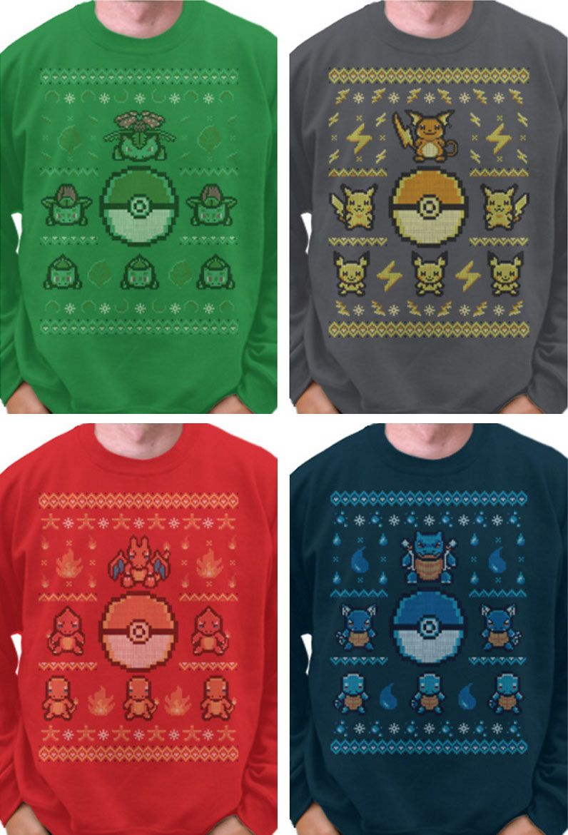 d2081dcd Pokemon Ugly Christmas Sweater | Pokémon | Christmas sweaters, Ugly ...