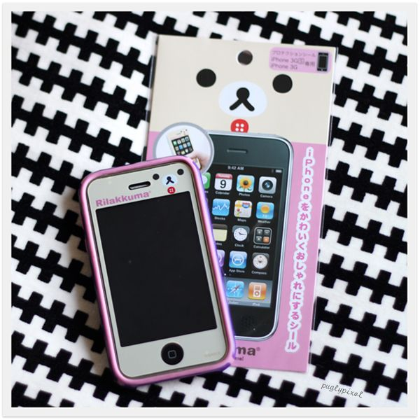 yes, i would like an iphone 4 with a pink case and a rilakkuma screen cover.