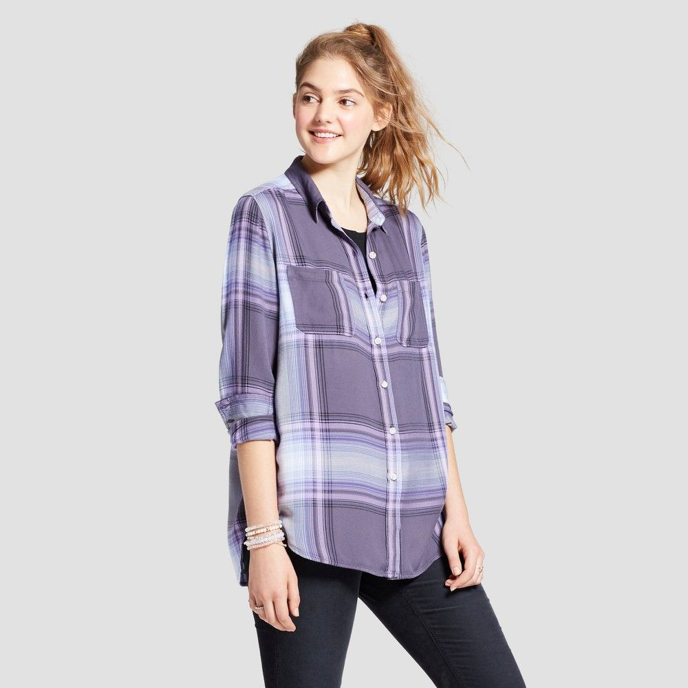 Women s Long Sleeve Boyfriend Button Down Shirt - Mossimo Supply Co ... 84d40bd1a5