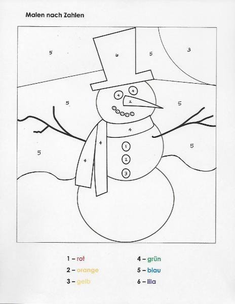 Malen Nach Zahlen Winter