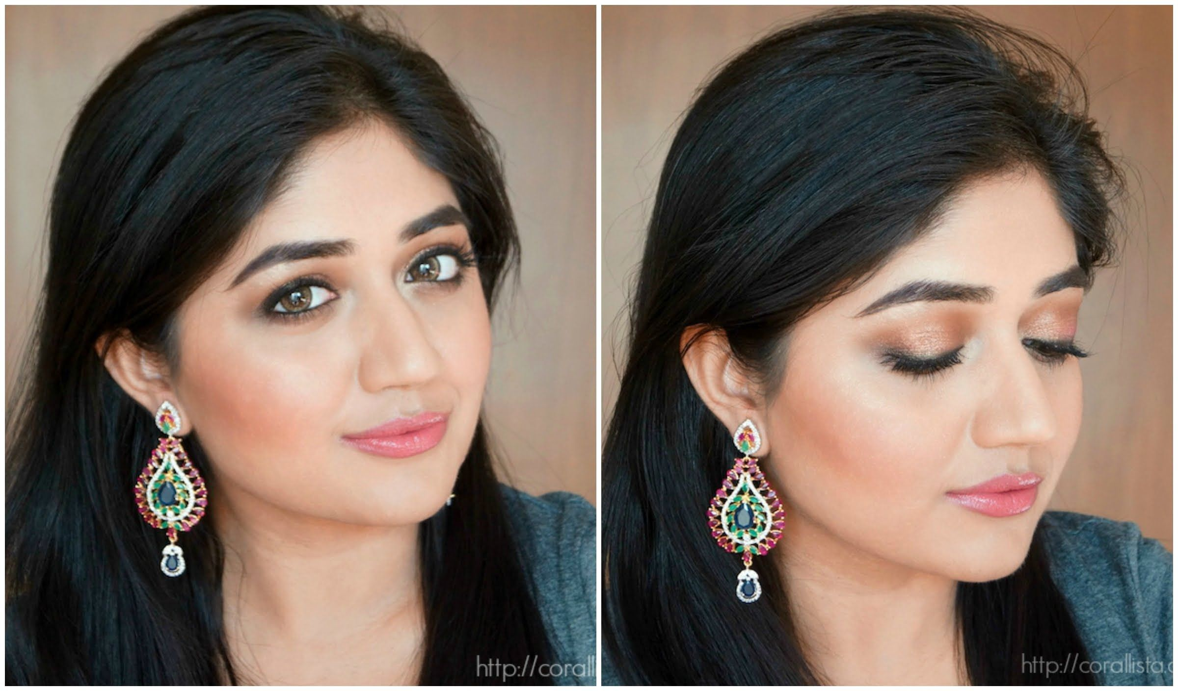 Rose Gold Indian Bridal Makeup Tutorial : A soft and glamorous makeup tutorial that is perfect for the wedding season! You can amp it up by using a fuchsia ...
