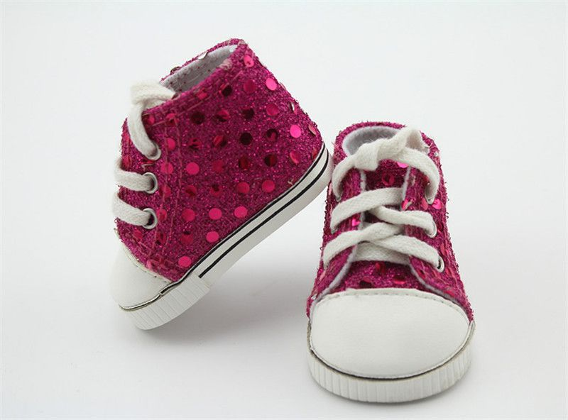 367079f49a9af Beautiful Sequin Rose Shoes For 18 Inches American Girl Doll Vintage ...