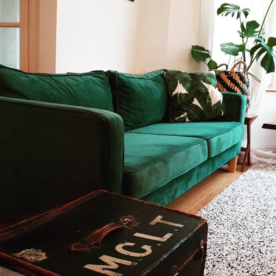 Comfort Works Rouge Emerald Velevt Sofa Slipcovers For Ikea