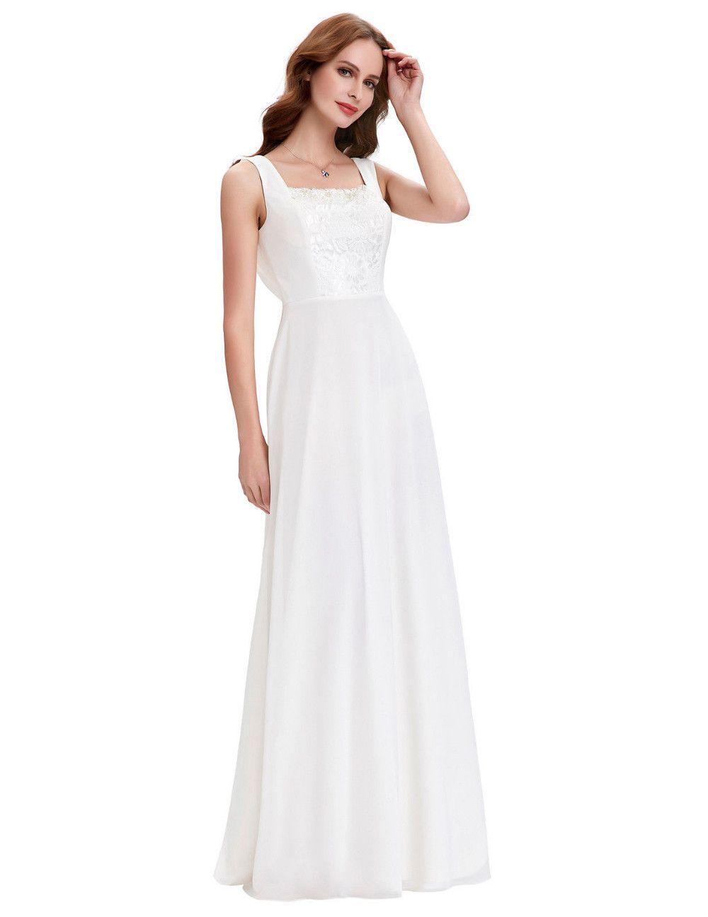 A line chiffon wedding dress  Retro A Line Chiffon Bridal Wedding Dress  My Wedding Ideas