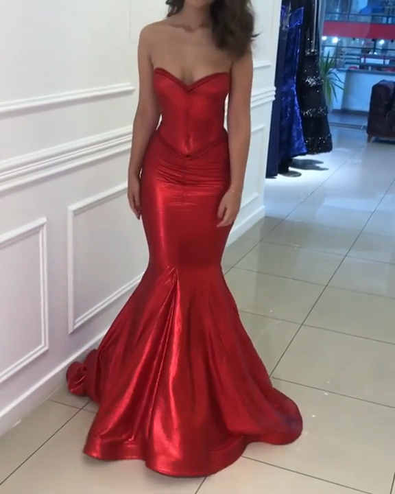 Long Prom Dresses 2019 | Mermaid Prom Dresses Red -   13 dress Red chic ideas