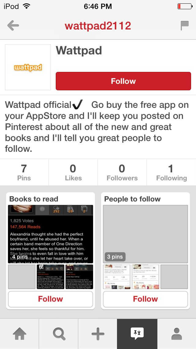 Anyone like Wattpad!??? Go follow that Wattpad account. It