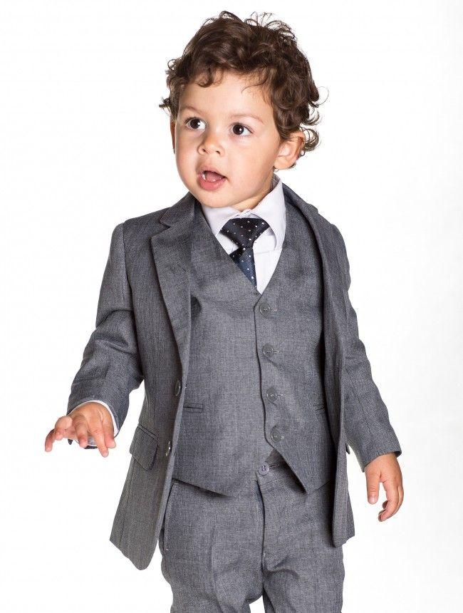 Baby boys grey slim fit suit | Wedding July 2016 | Pinterest ...