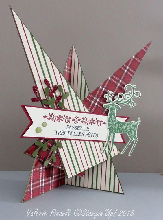 carte chevalet étoile #christmascards