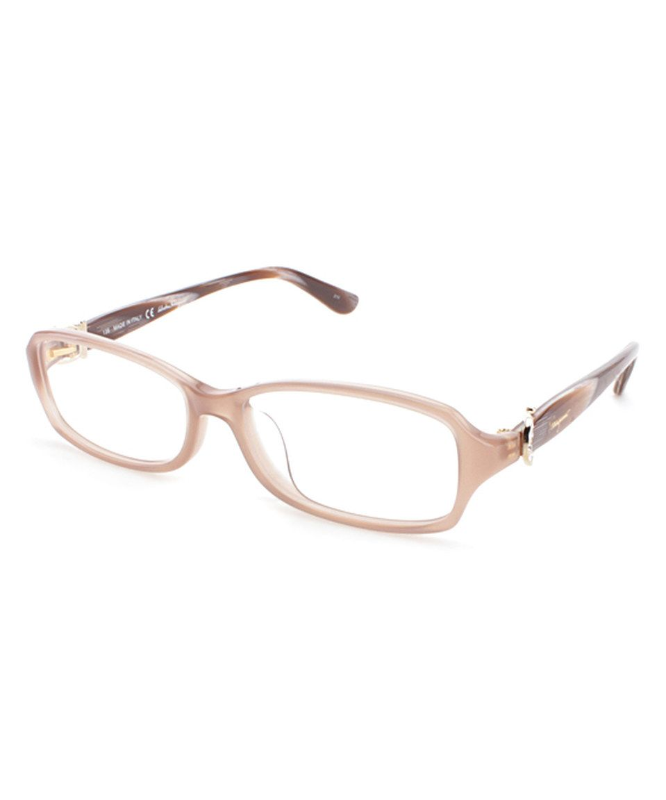 Loving this Salvatore Ferragamo Crystal Pink Rectangle Eyeglass ...