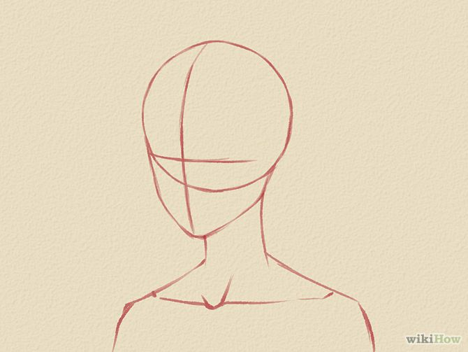 How to draw a manga face male