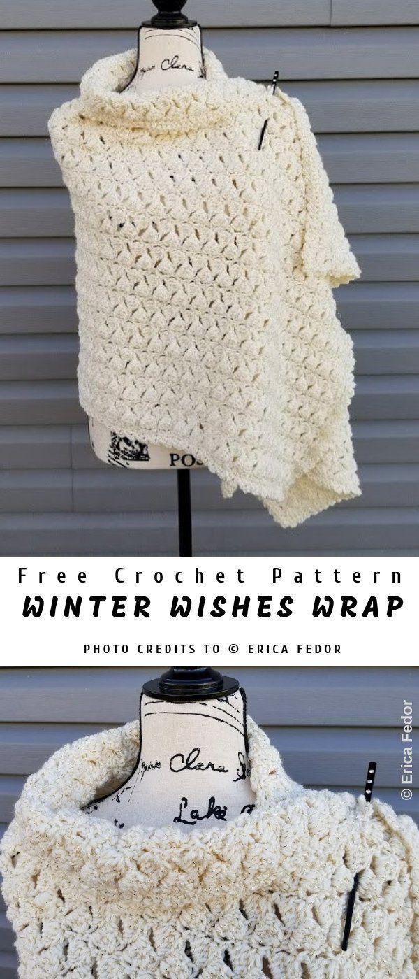 Winter Wishes Crochet Wrap #dogcrochetedsweaters