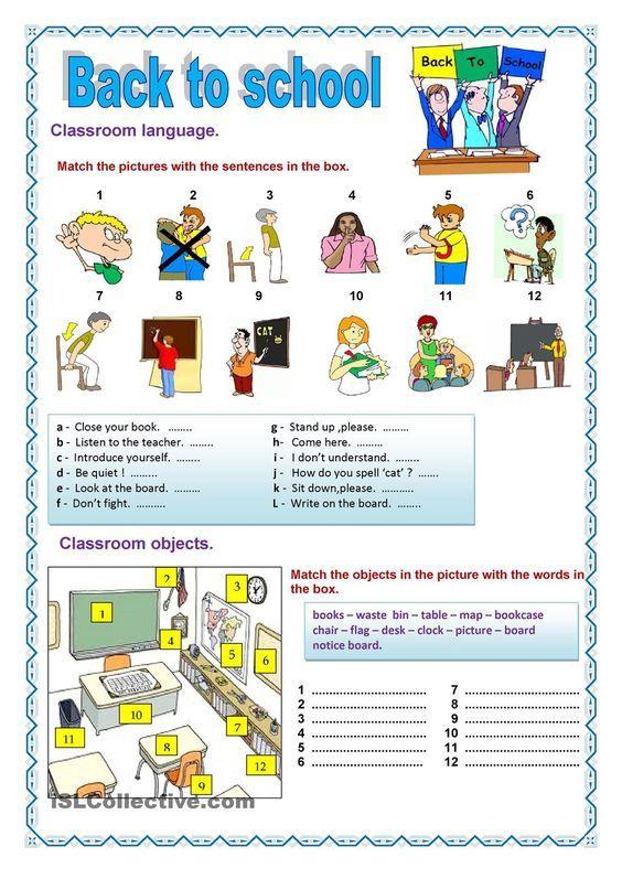 Back To School 2 Back To School Pinterest Classroom Language
