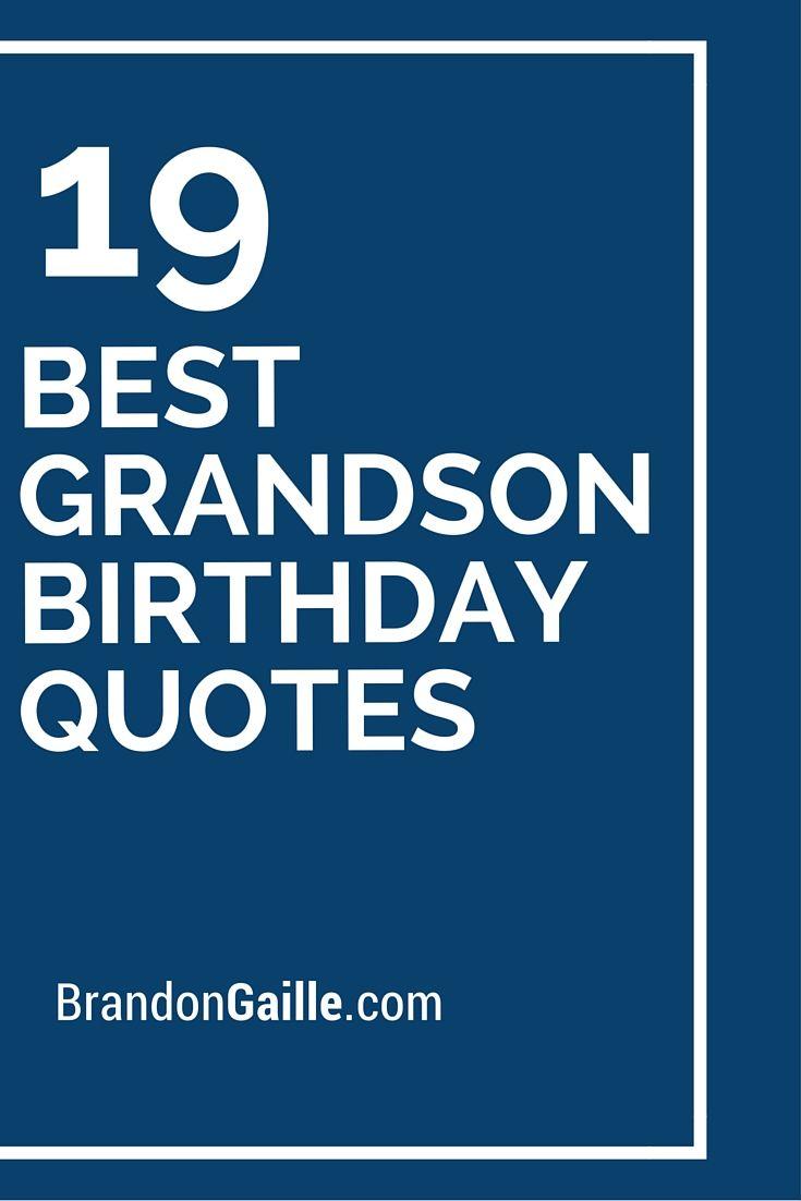 19 Best Grandson Birthday Quotes WORDS Birthday Verses