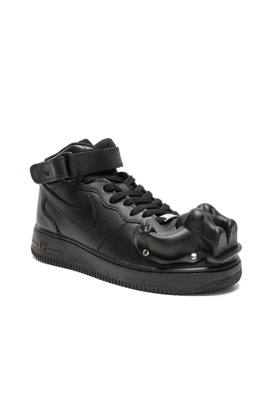 Image 2 of Comme Des Garcons Homme Plus Nike Air Force 1 CDG Custom in Black    Black 69e264ee5
