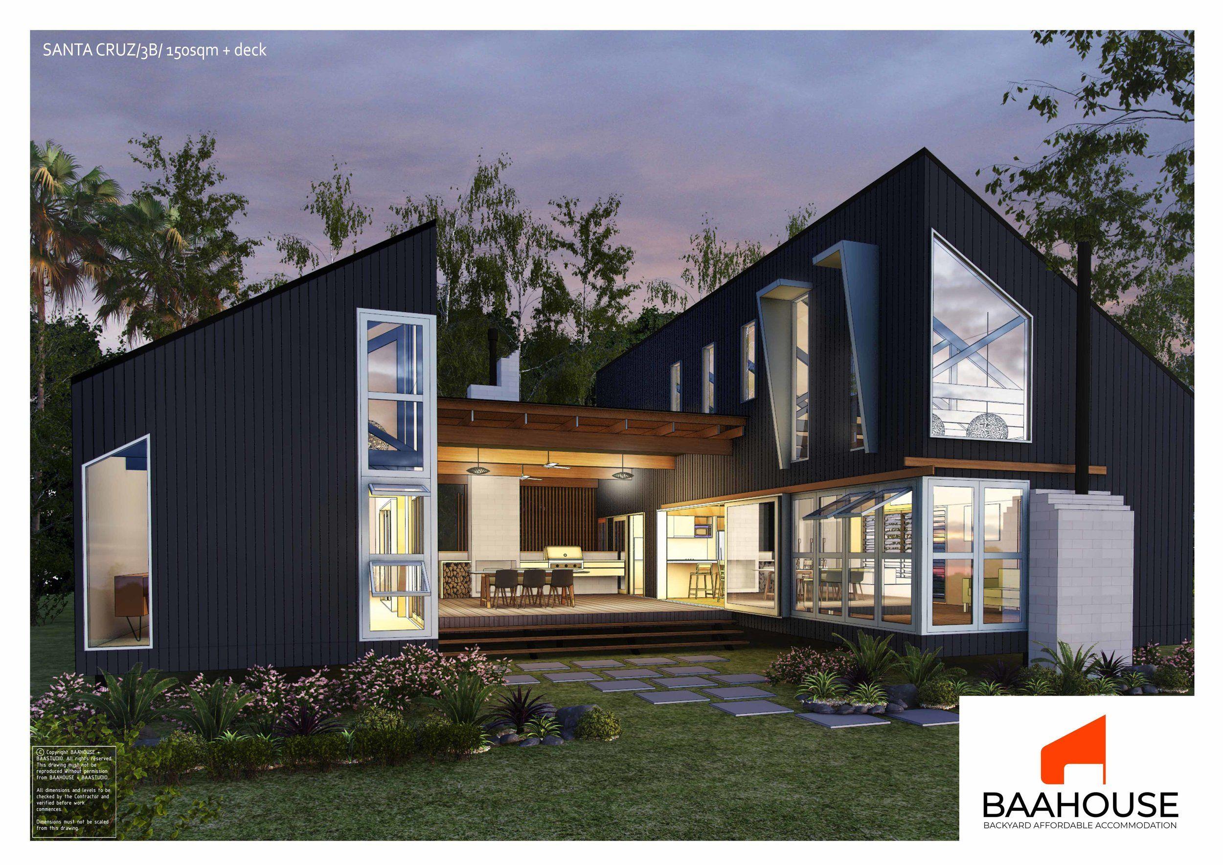 Santa Cruz 3bedroom 15osqm Design Small House Design Small House Australia Small House