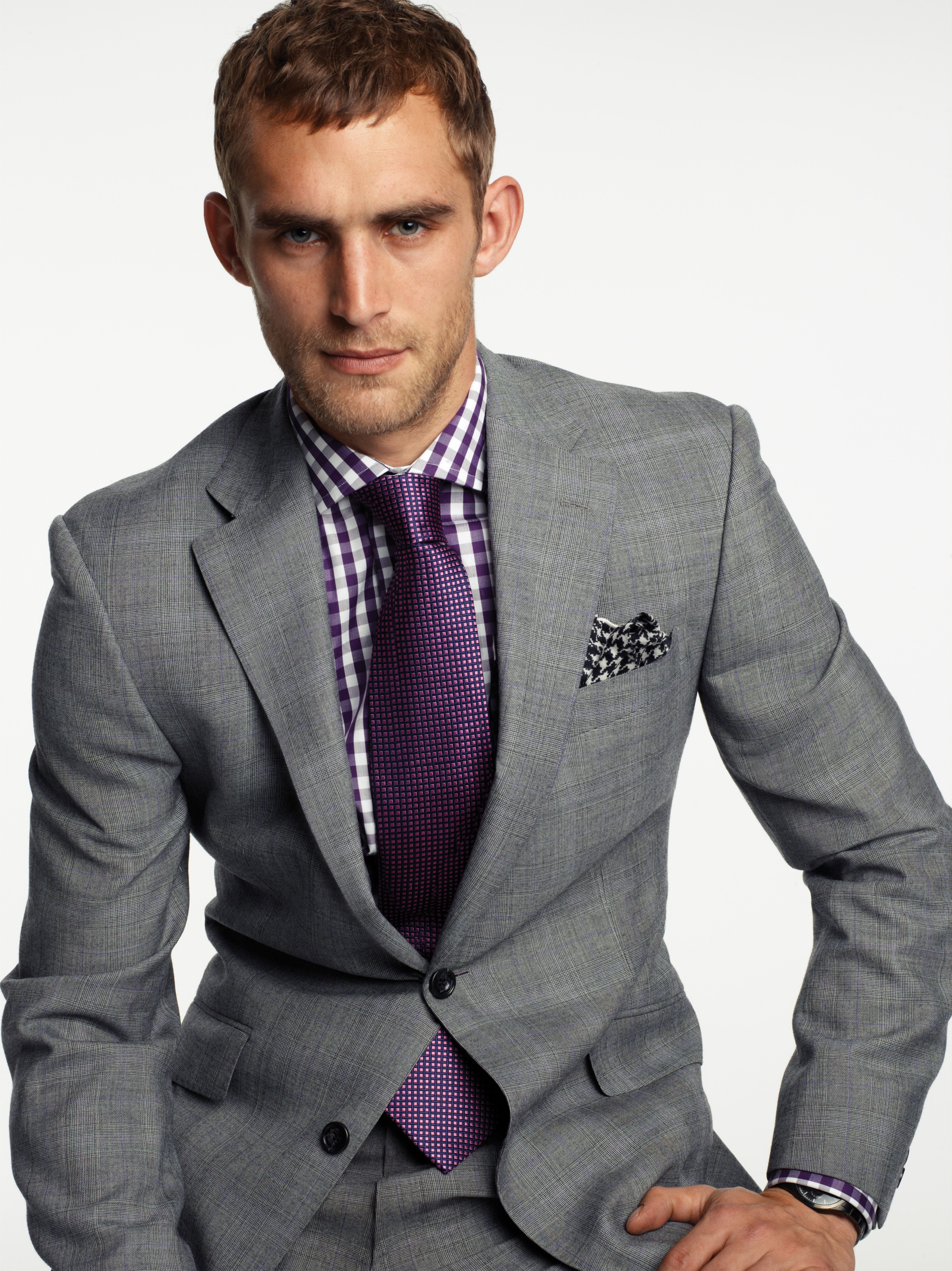 Fantastic Look The Grey And The Purple Together Look
